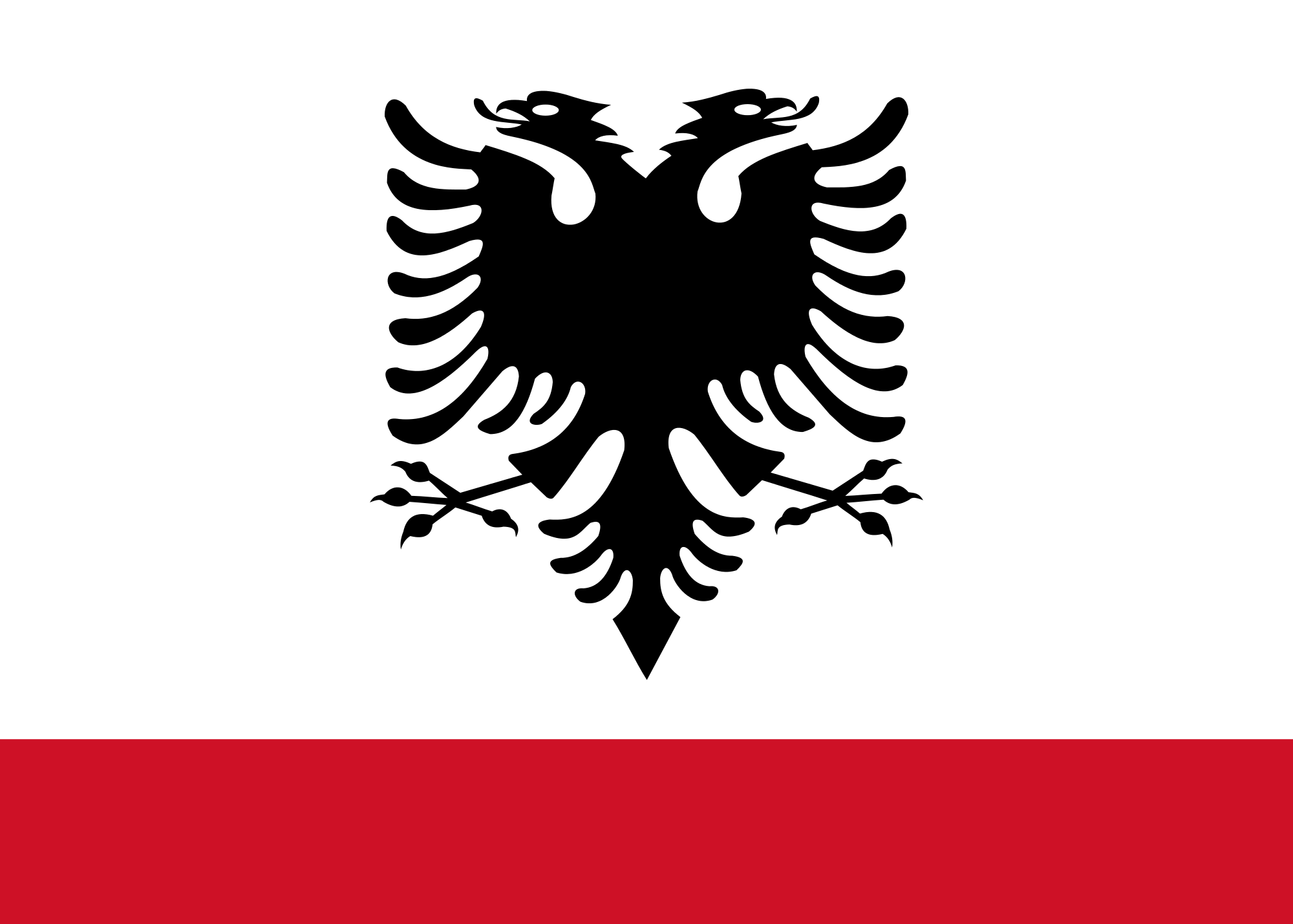 Flag of Albania (Naval Ensign)