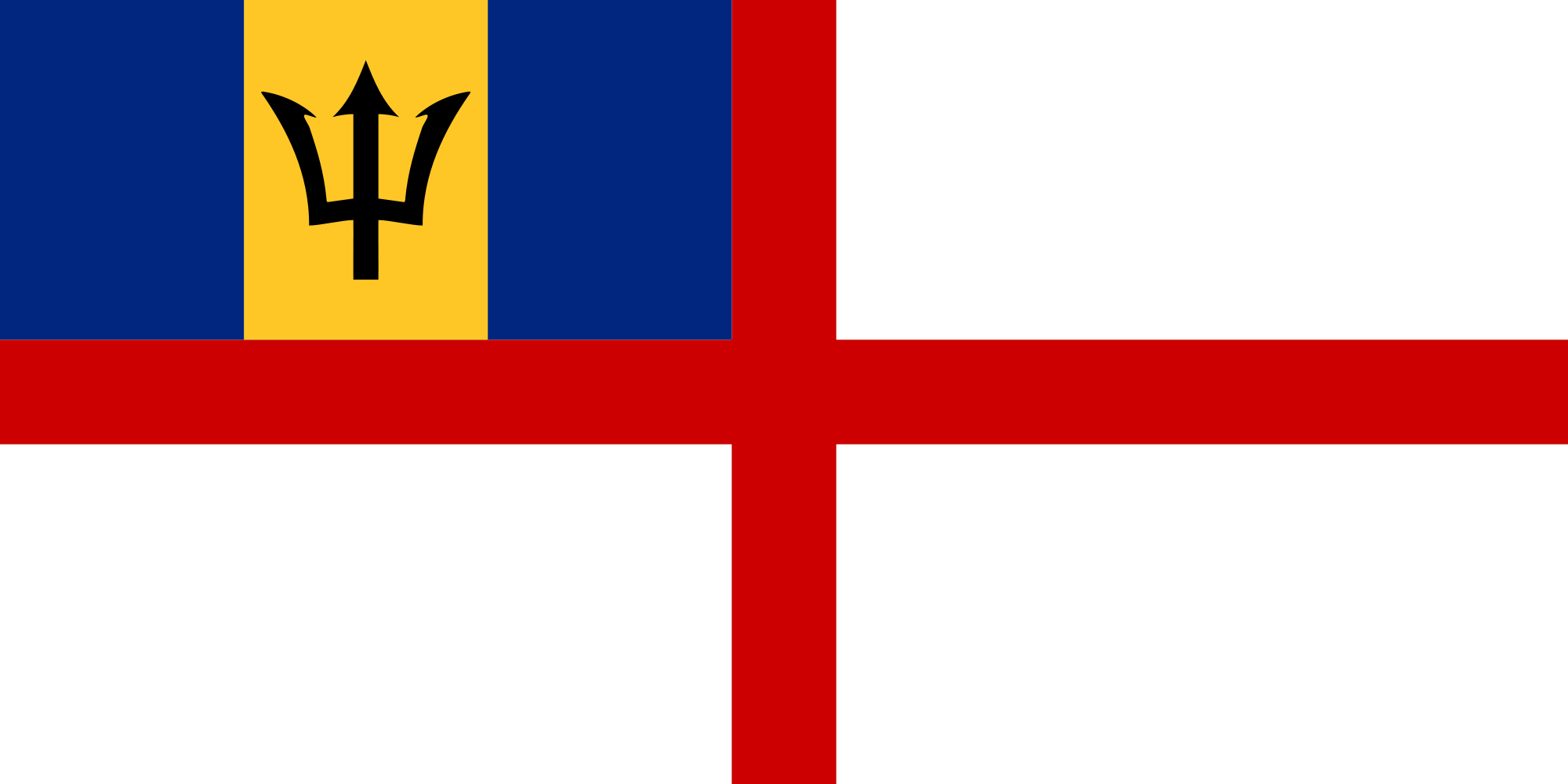 Barbados (Naval ensign)