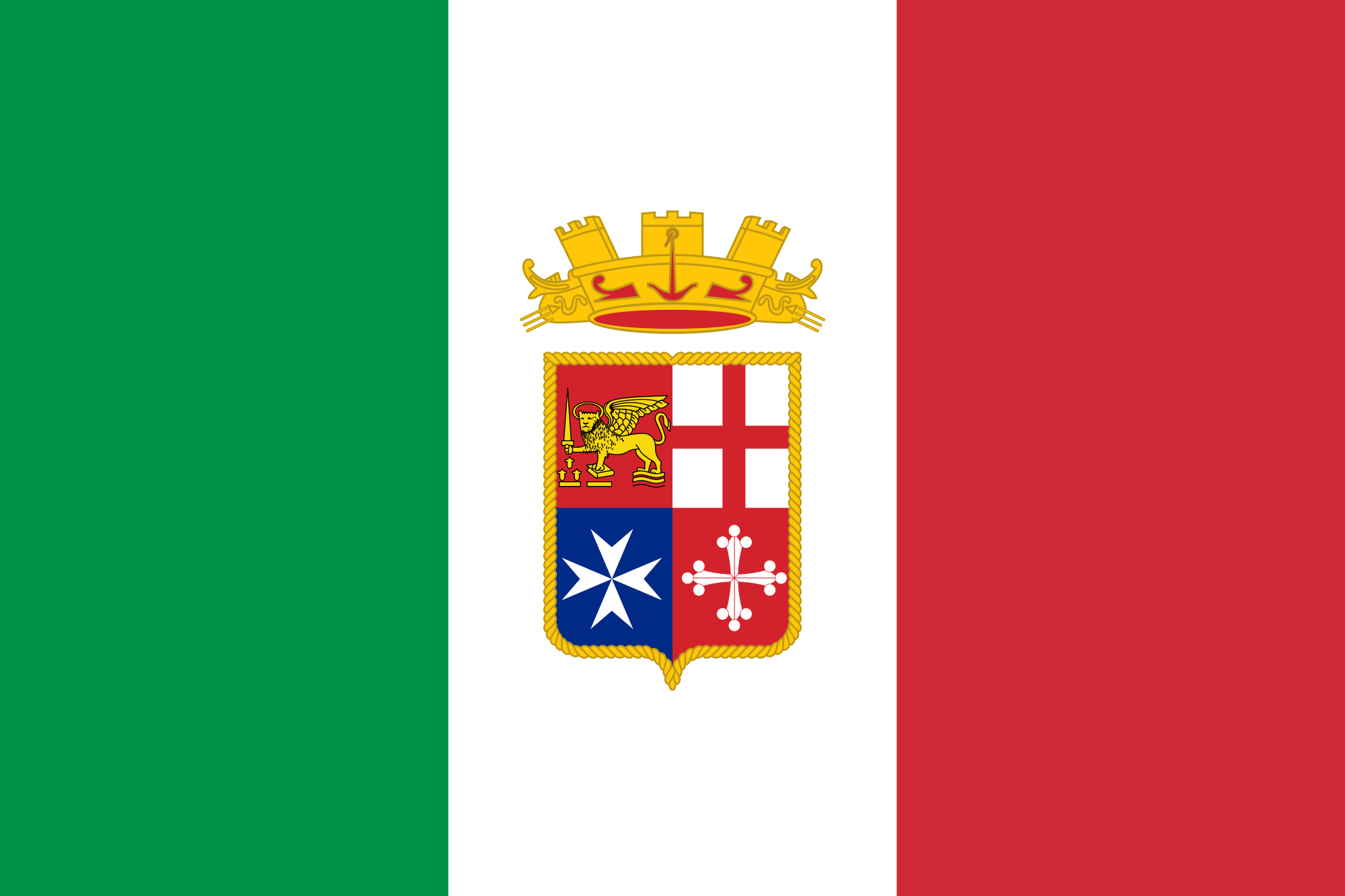 Flag of Italy (Naval ensign)
