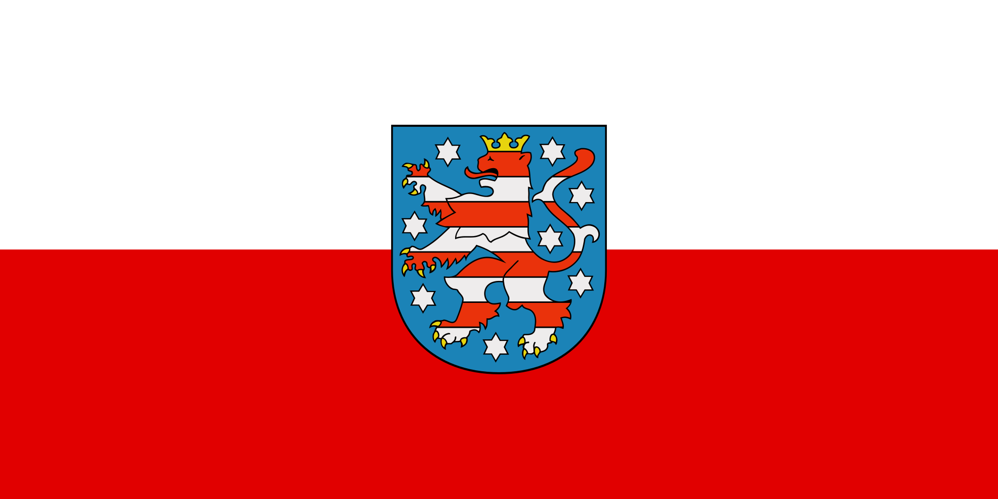 Flag of Thuringia (State Flag)