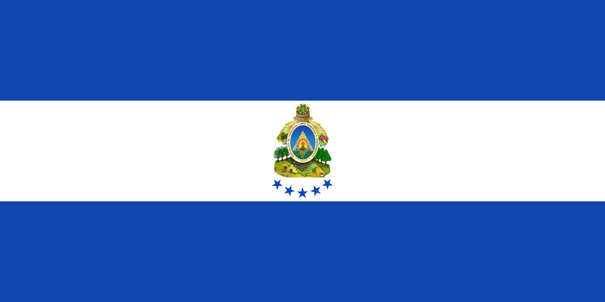 Flag of Honduras (Naval Ensign)