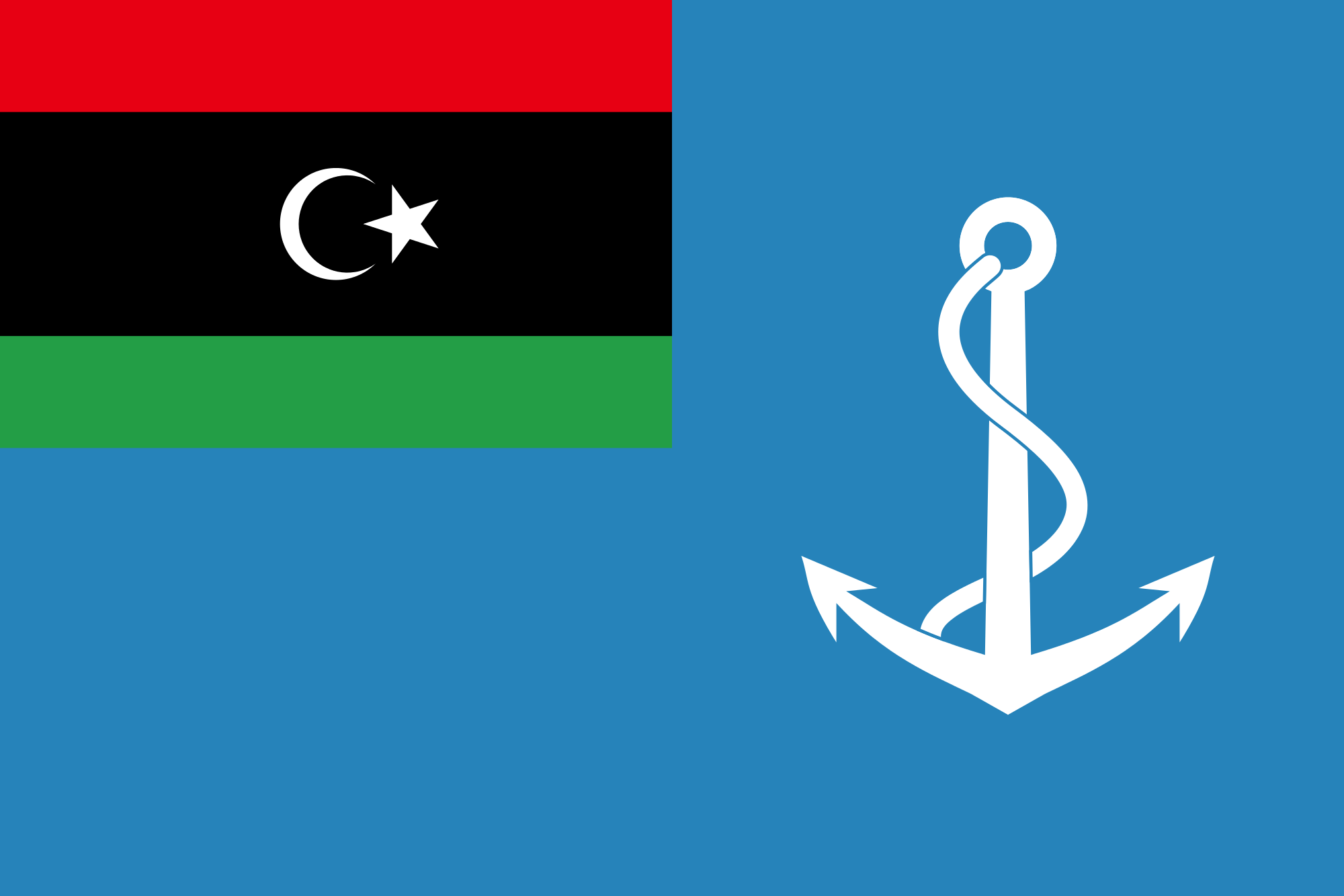 Flag of Libya (Naval Ensign)