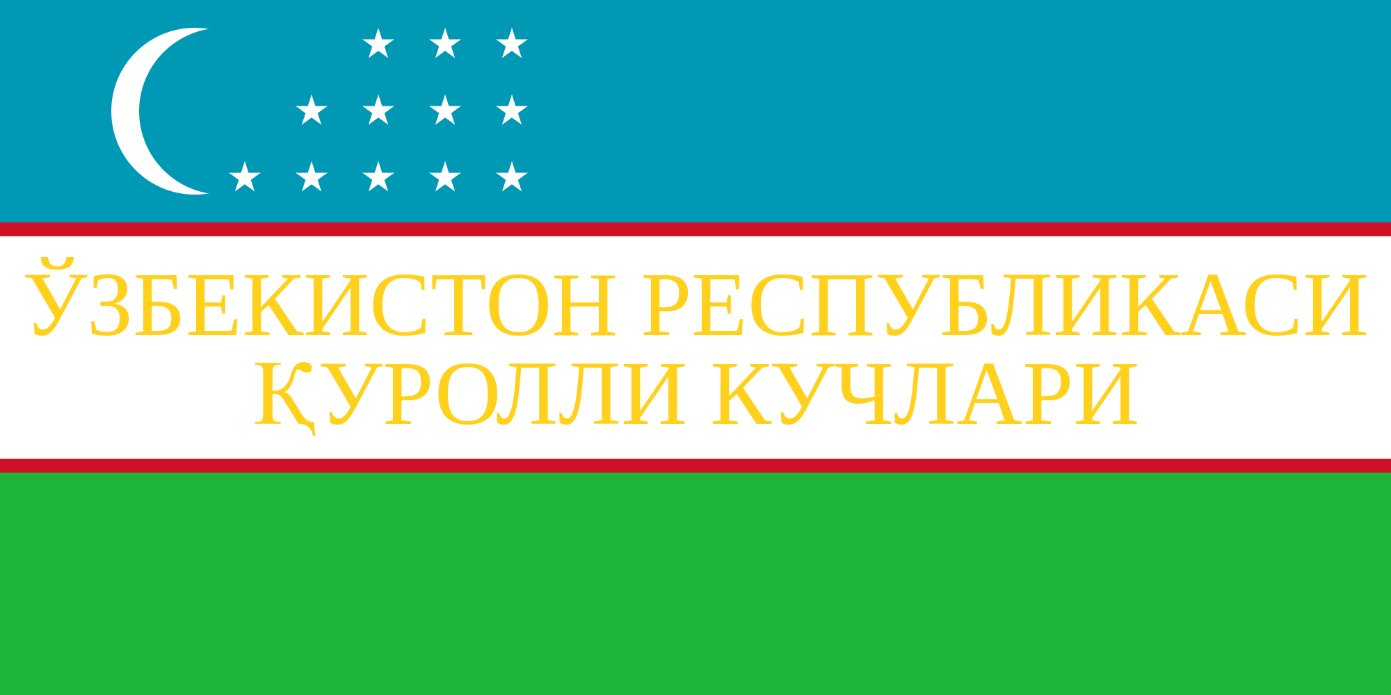 Flag of Uzbekistan (War Flag)
